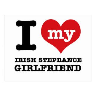 irish stepdance Girlfriend designs Postcards