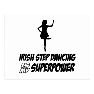 Irish Stepdance Superpower Designs Postcard