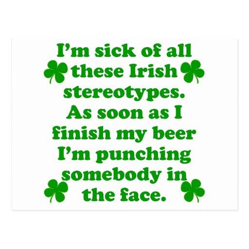 Irish Stereotypes Postcards