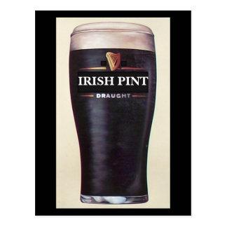 Irish Stout Pint Postcard