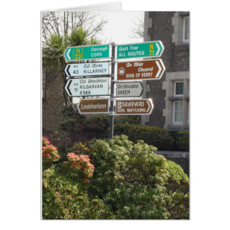 Irish Street Sign Card
