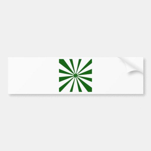 Irish Stripe Shamrock Bumper Sticker