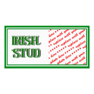 Irish Stud Text Image Picture Card