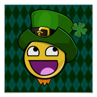 Irish Style St. Patrick's Day Awesome Face Poster