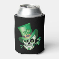 Irish Sugar Skull Can Cooler