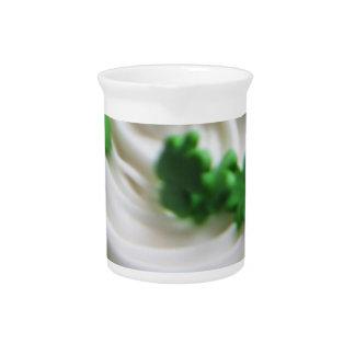 Irish Swirl Saint Patrick's Day Cupcake Frosting Drink Pitchers