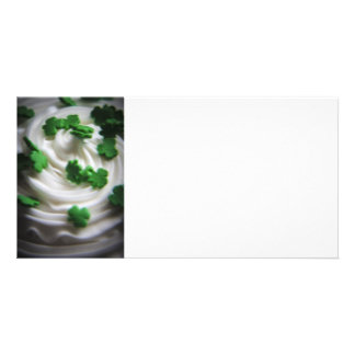 Irish Swirl Saint Patrick's Day Cupcake Frosting Photo Greeting Card