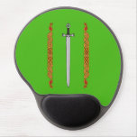 Irish Sword and Knotwork Gel Mouse Pad