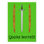 Irish Sword and Knotwork Invitation