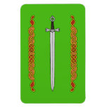 Irish Sword and Knotwork Magnet