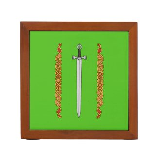 Irish Sword and Knotwork Pencil Holder