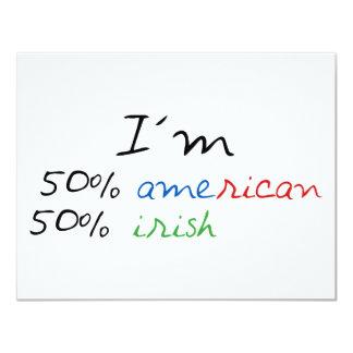 Irish t-shirt! 4.25x5.5 paper invitation card
