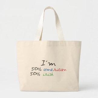 Irish t-shirt! large tote bag