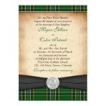 Irish Tartan Celtic Claddagh Lucky in Love Wedding Cards
