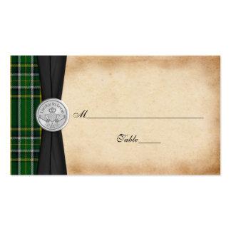 Irish Tartan Celtic Claddagh Wedding Place Cards Business Card Template