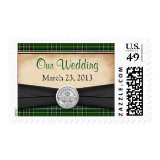 Irish Tartan Celtic Claddagh Wedding Postage