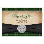 Irish Tartan Celtic Claddagh Wedding Thank You Stationery Note Card