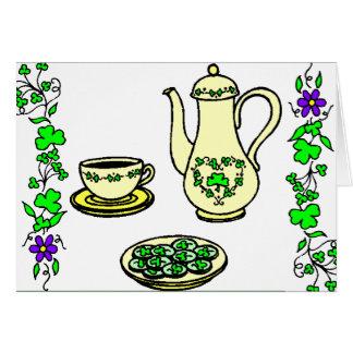Irish Tea Set St. Patrick's Day Greeting Card