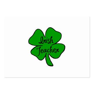 Irish Teacher Large Business Cards (Pack Of 100)