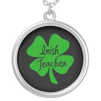 Irish Teacher Round Pendant Necklace