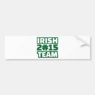 Irish team 2015 car bumper sticker