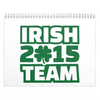 Irish team 2015 wall calendars