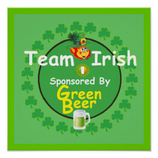 Irish Team POSTER Print