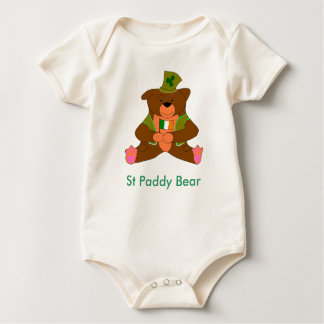 irish ted, St Paddy Bear Baby Bodysuit