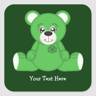 Irish Teddy Bear Stickers