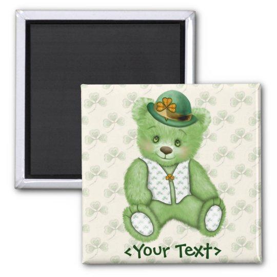 Irish Teddybear - Green Magnet
