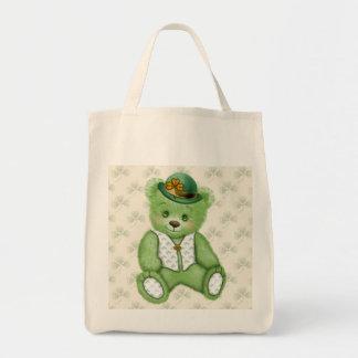 Irish Teddybear - Green Tote Bag