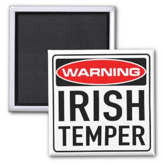 Irish Temper Funny Warning Road Sign Magnet