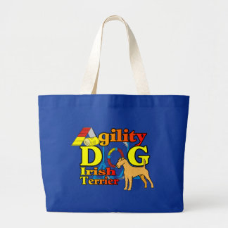 Irish_Terrier_Agility Large Tote Bag