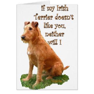 Irish Terrier Card
