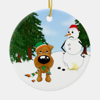 Irish Terrier Christmas Christmas Ornaments