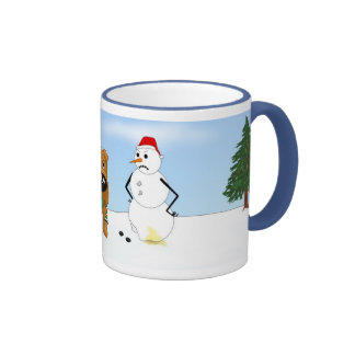 Irish Terrier Christmas Coffee Mug