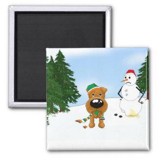 Irish Terrier Christmas Fridge Magnets