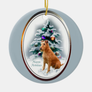 Irish Terrier Christmas Gifts Ornament