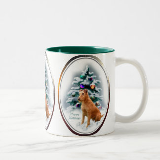 Irish Terrier Christmas Gifts Two-Tone Coffee Mug