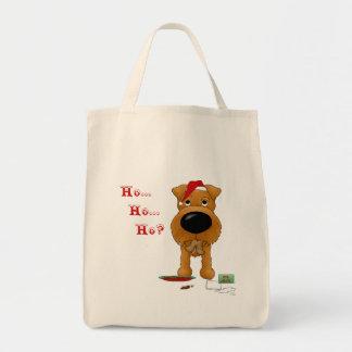 Irish Terrier Christmas Grocery Tote Bag