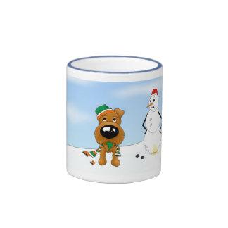 Irish Terrier Christmas Ringer Coffee Mug