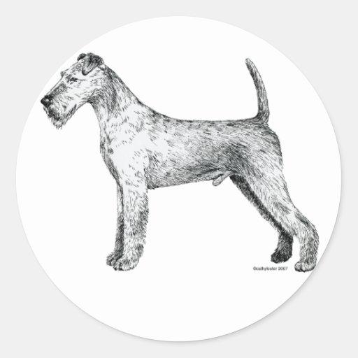 Irish Terrier Classic Round Sticker