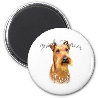 Irish Terrier Dad 2 2 Inch Round Magnet