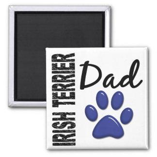 Irish Terrier Dad 2 2 Inch Square Magnet