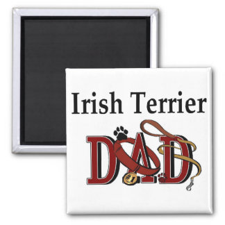 Irish Terrier Dad Gifts 2 Inch Square Magnet