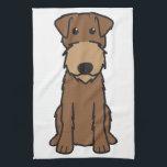 "Irish Terrier Dog Cartoon Towel<br><div class=""desc"">Irish Terrier. Design by DogBreedCartoon</div>"