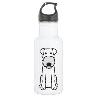Irish Terrier Dog Cartoon Water Bottle