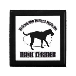 IRISH TERRIER DOG DESIGNS JEWELRY BOXES
