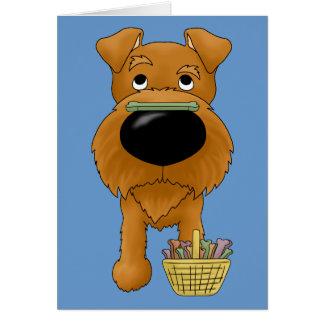 Irish Terrier - Easter Bone Hunt, Anyone? Greeting Card