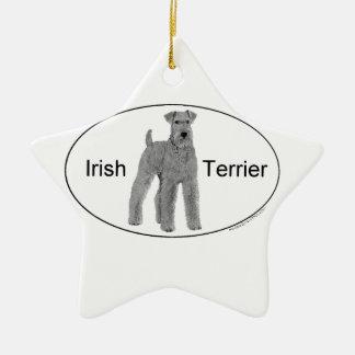 Irish Terrier Euro Style Ceramic Ornament